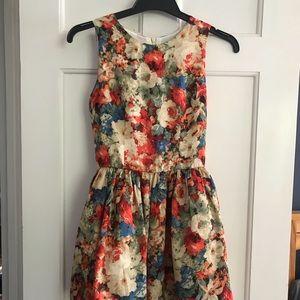 Marc Jacobs silk polyester dress size 2 flower